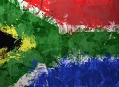 Art - Numérique Drapeau Afrique du Sud