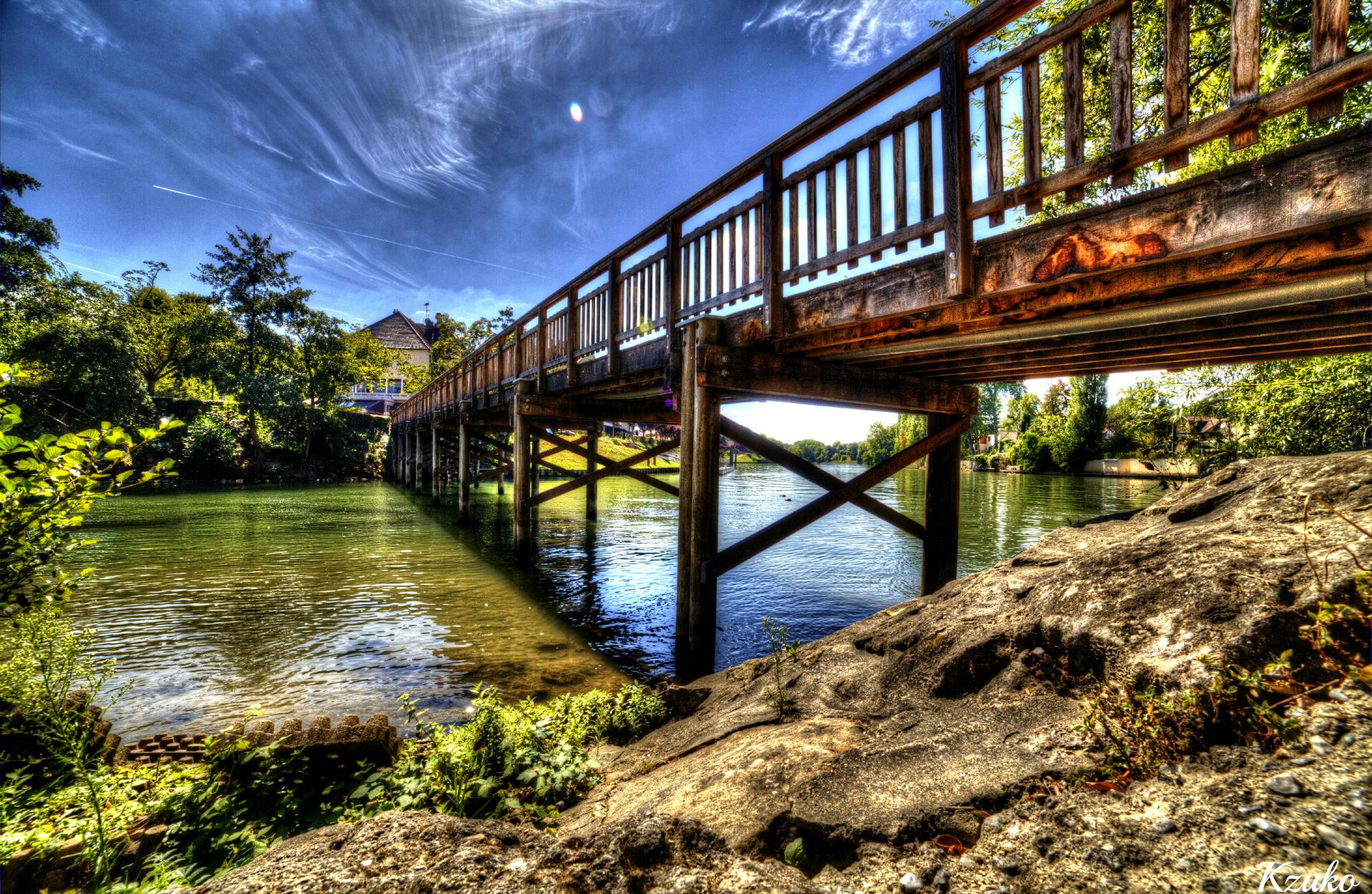 Fonds d'écran Nature Fleuves - Rivières - Torrents Pont de l'Isle Adam