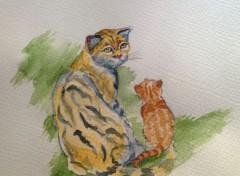 Art - Peinture le chaton