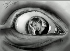 Art - Crayon Autoportrait