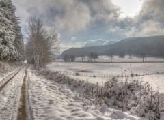 Nature la neige est de retour