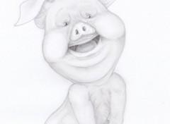 Art - Crayon Porcinet x)