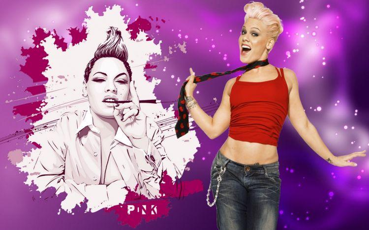 Fonds d'écran Musique Pink Wallpaper N°323684