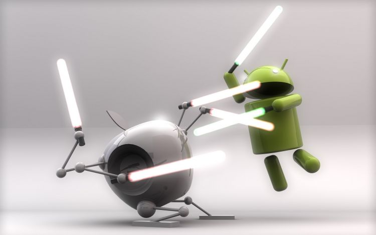 Fonds d'écran Informatique Android android vs apple