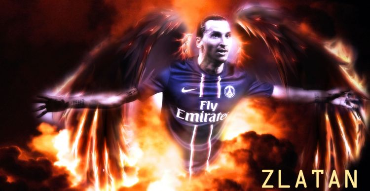 Fonds d'écran Sports - Loisirs Football - PSG Zlatan..ce dieu (du football).