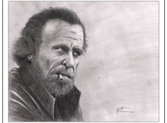 "Art - Pencil ""Charles Bukowski"""