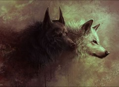 Art - Painting Loups