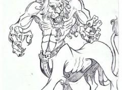 Art - Crayon lion