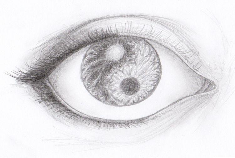 Fonds d'écran Art - Crayon Yeux Oeil yin et yang