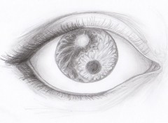 Art - Pencil Oeil yin et yang