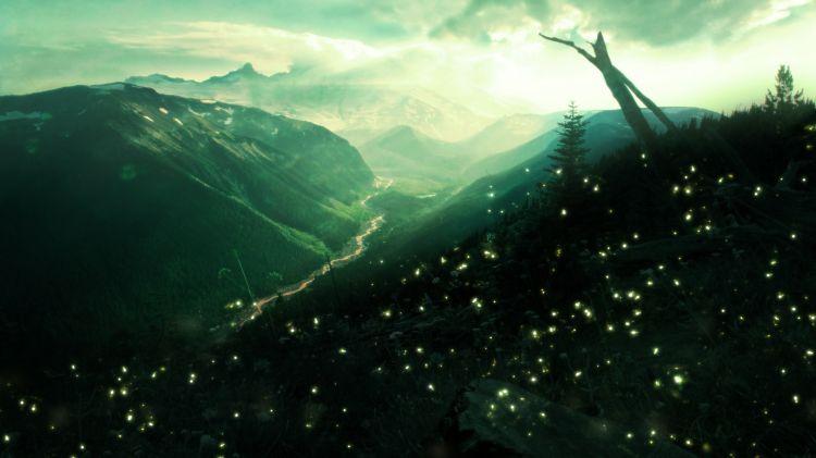 Fonds d'écran Art - Numérique Nature - Ciels, couchers de soleil Couché de soleil