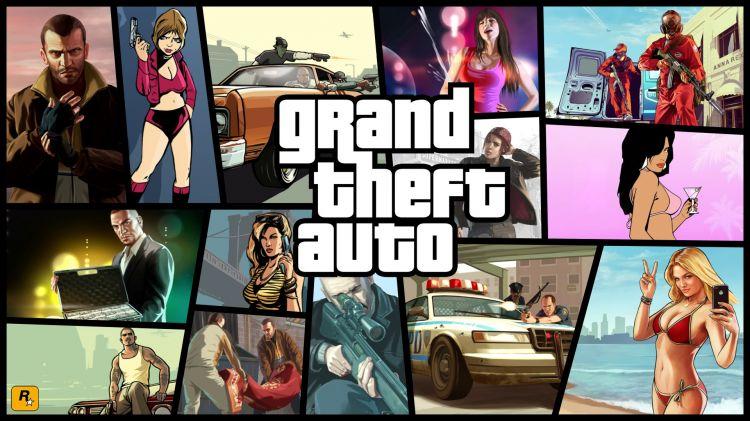 Fonds d'écran Jeux Vidéo GTA 5 GranTheftAuto III VC SA VI V