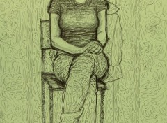 Art - Crayon Seated frontal model