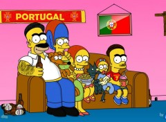 Cartoons Les Simpson au Portugal