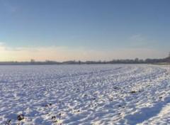 Nature la plaine sous la neige