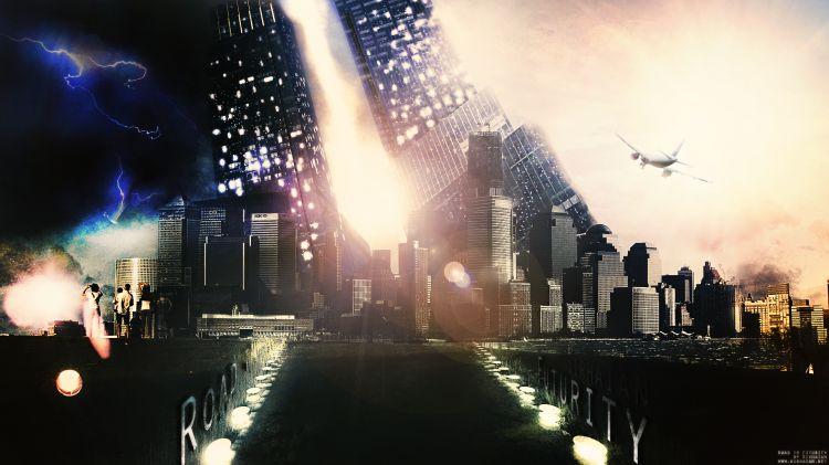 Fonds d'écran Fantasy et Science Fiction Villes futuristes Road to Futurity