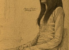 Art - Pencil Seated Side Model