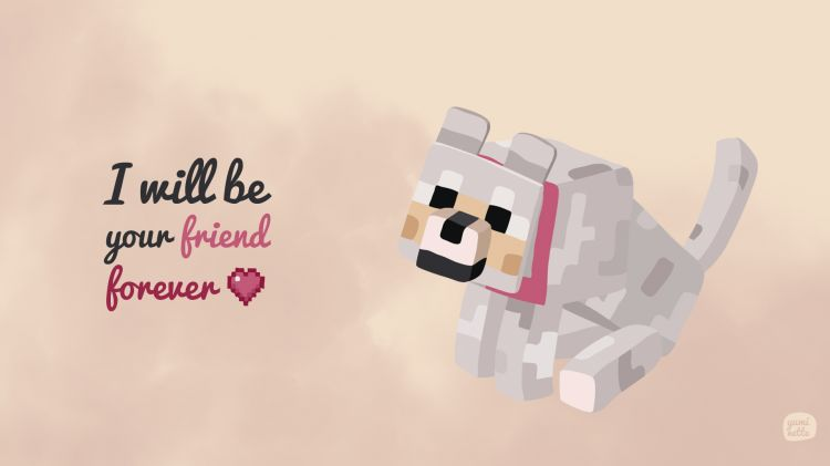 Wallpapers Video Games Minecraft Minecraft wolf - I will be your friend forever