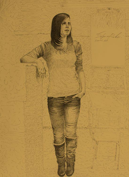 Fonds d'écran Art - Crayon Etudes Standing model iv
