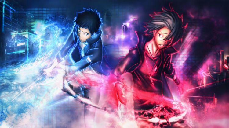 Fonds d'écran Manga Katekyoshi Hitman Reborn Yamamoto and Gokudera (cambio forma)