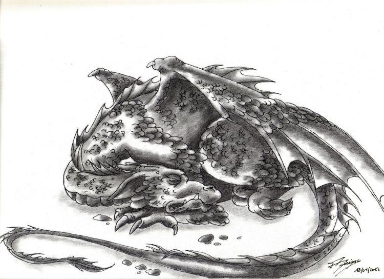 Fonds d'écran Art - Crayon Fantasy - Dragons dragons