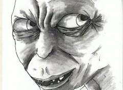 Art - Crayon gollum