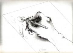 Art - Pencil dessin d'un dessin