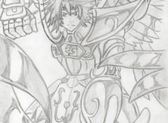 Art - Crayon Sisyphe, chevalier d'or du sagittaire