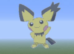Video Games Pixel-Art Pichu