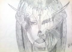 Art - Crayon  Dessin tiré d'une oeuvre de Luis Royo