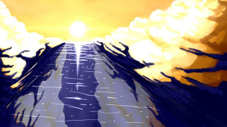 Fonds d'écran Art - Numérique Nature - Ciels, couchers de soleil sky