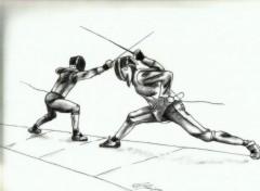 Art - Pencil escrime