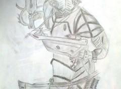 Art - Crayon ELDAR-WARHAMMER