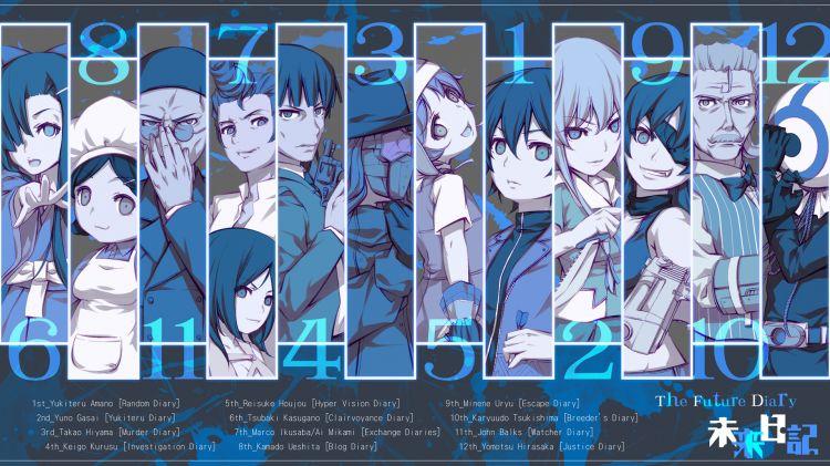 Fonds d'écran Manga Mirrai Nikki Mirai Nikki au complet