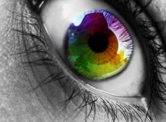Art - Numérique Rainbow Eye