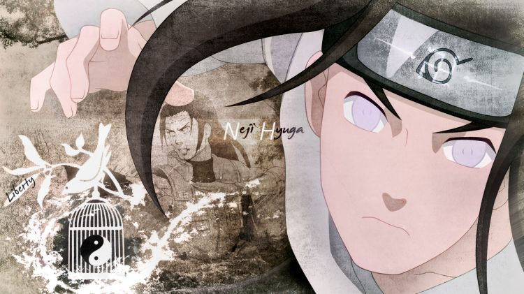 Fonds d'écran Manga Naruto Neji Hyuga liberty