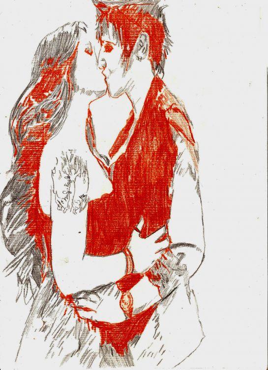 Wallpapers Art - Pencil Love - Friendship Wallpaper N°346777