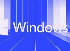 Informatique Windows 8 , fond d'écran bleu