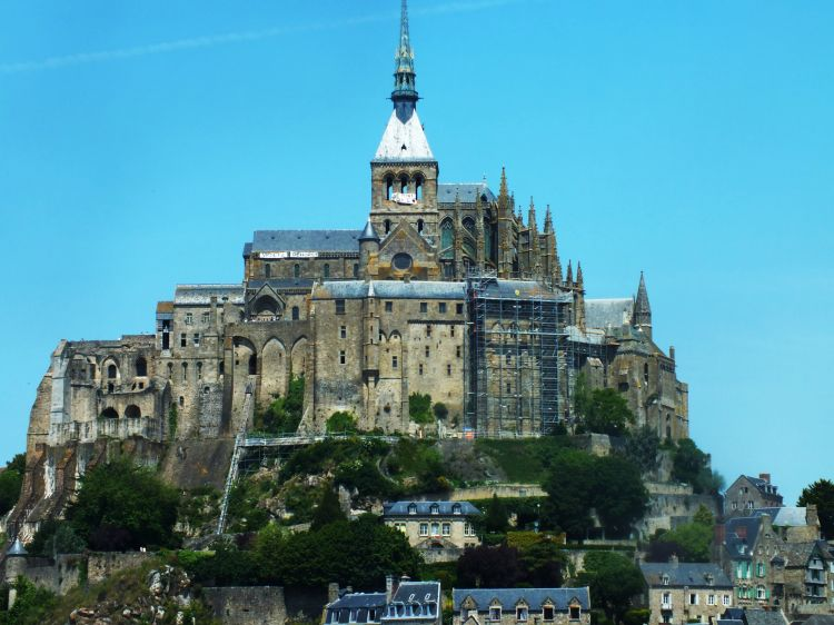 Wallpapers Constructions and architecture Statues - Monuments Mont Saint Michel