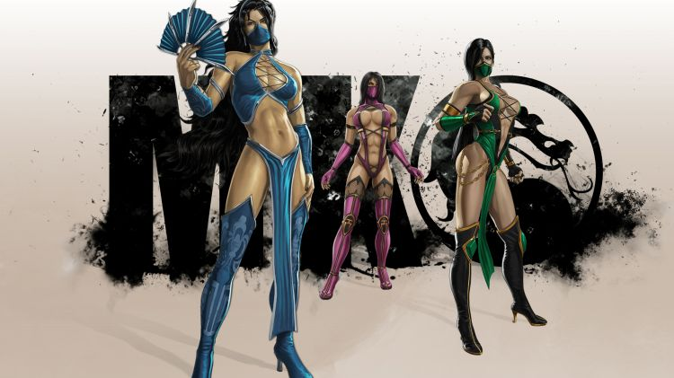 Fonds d'écran Jeux Vidéo Mortal Kombat Kitana, Mileena et Jade