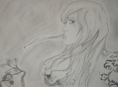 Art - Pencil Femme de dos