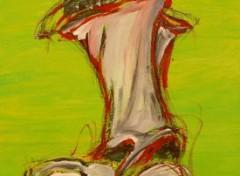 Art - Peinture Acrobate Urbain