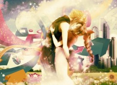 Video Games Aerith & Cloud