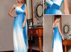 Objets robe de soirée bleu