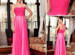 Objets robe de soirée rose