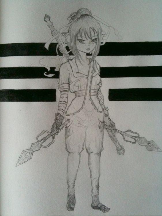 Fonds d'écran Art - Crayon Personnages Wallpaper N°357864