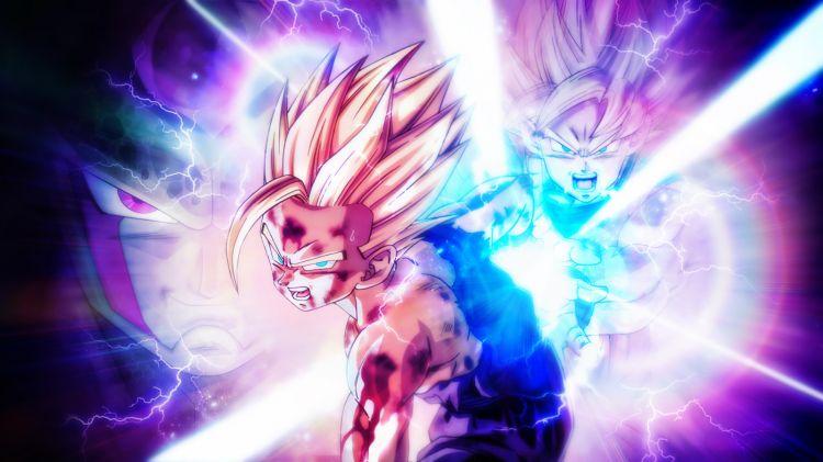 Fonds d'écran Manga Dragon Ball Z Kamehameha père-fils!