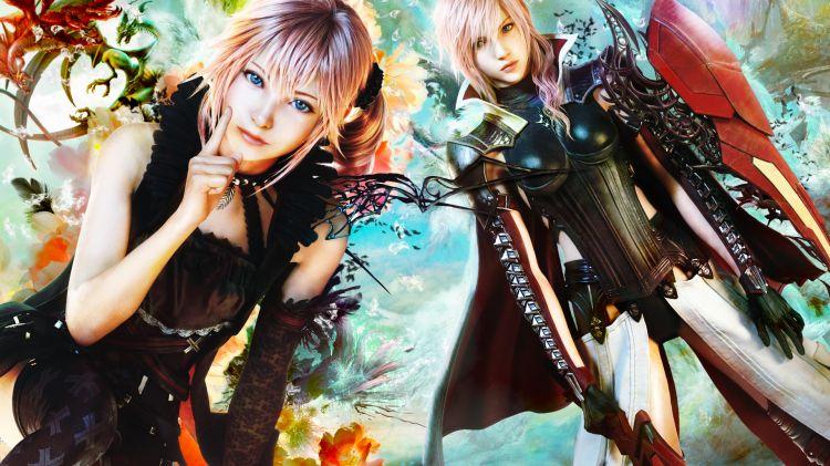 Fonds d'écran Jeux Vidéo Final Fantasy Lightning Returns  Serah & Lightning