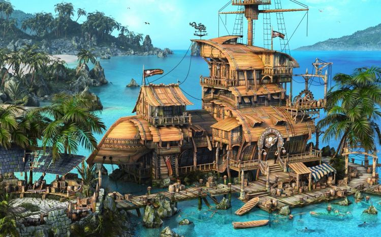 Wallpapers Fantasy and Science Fiction Pirates Wallpaper N°358249