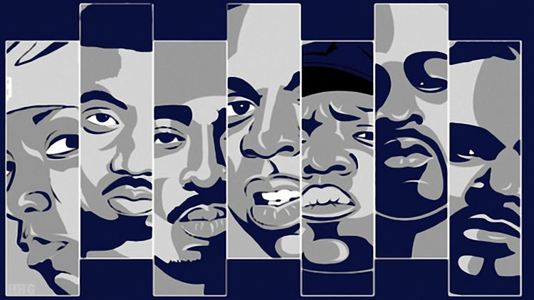 Fonds d'écran Musique Divers Rap Big L, Tupac, Jay Z, Biggie Smalls, Nas, Rakim, Big Pun